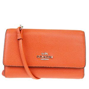 Coach 63106 Leather Wallet (tri-fold) Red Color